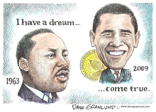 59930 600 MLK Dream and Obama cartoons