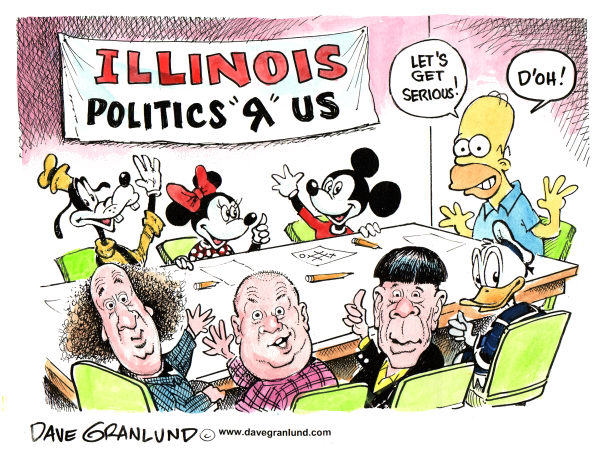 61226 600 Illinois Politics cartoons