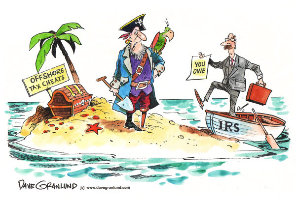 62938 600 IRS hunts Offshore Tax Cheats cartoons