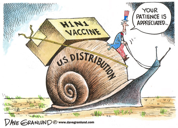 70355 600 H1N1 Vaccine Distribution cartoons
