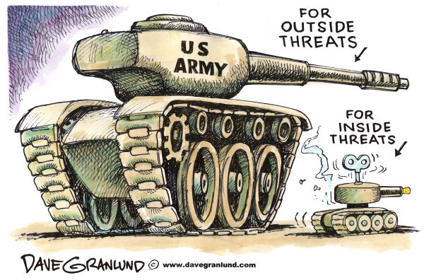 71158 600 US Army and inside threats cartoons