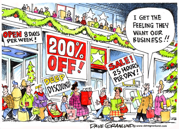 71400 600 Holiday shopping cartoons