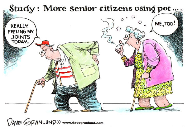 75066 600 More senior citizens smoking pot cartoons