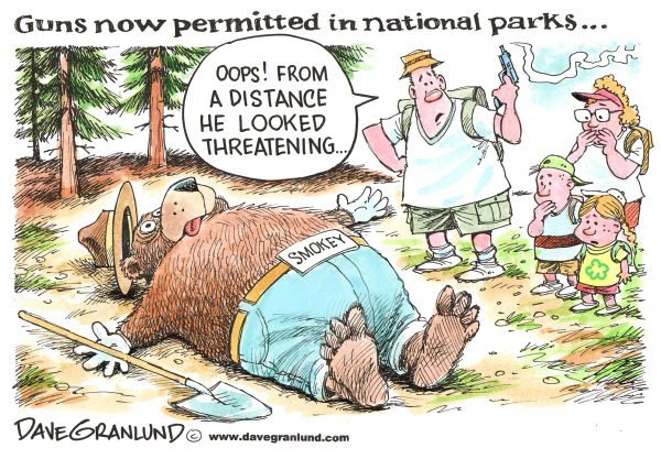 75124 600 Guns now OK in national parks cartoons