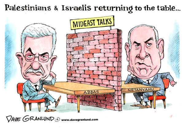 75606 600 Palestinians & Israelis return to table cartoons
