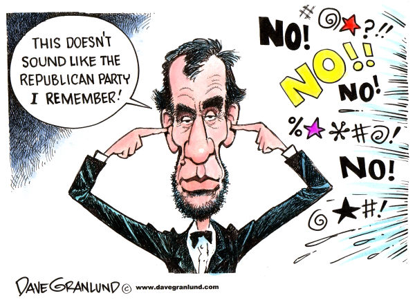76365 600 The Party of Lincoln cartoons