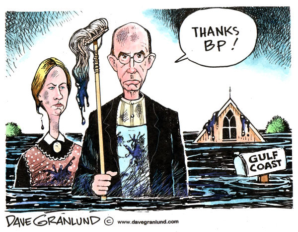 77910 600 Oil spill clean up and BP cartoons