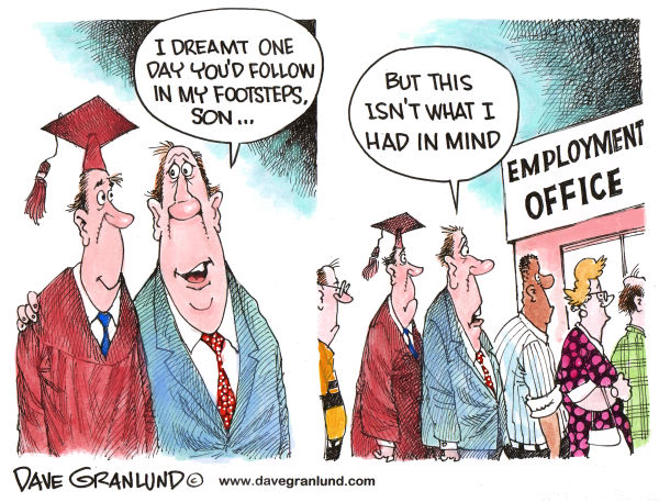 78686 600 Grads and Jobs cartoons