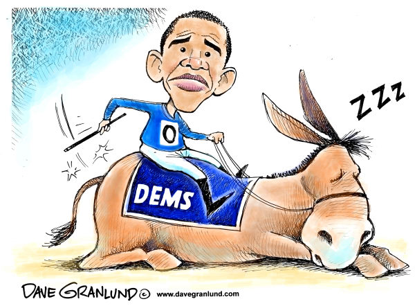 Democrats dozing © Dave Granlund,Politicalcartoons.com,dems, democrats, obama, donkey, 2010, mid-terms, midterms, elections november, voters, apathy, voter apathy, politics