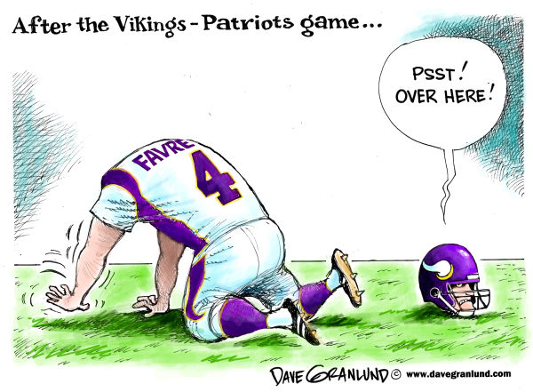 85069 600 Brett Favre after VikingsPatriots game cartoons