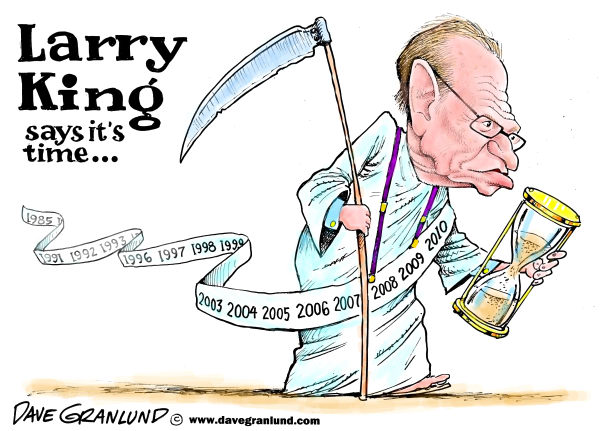 87102 600 Larry King TV show ends cartoons