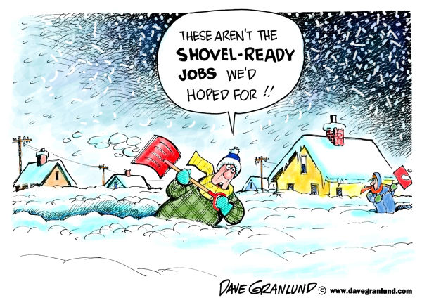 87358 600 Snowstorms and shovel ready jobs cartoons