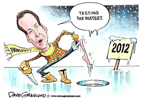 88320 600 Pawlenty Testing the Waters  cartoons
