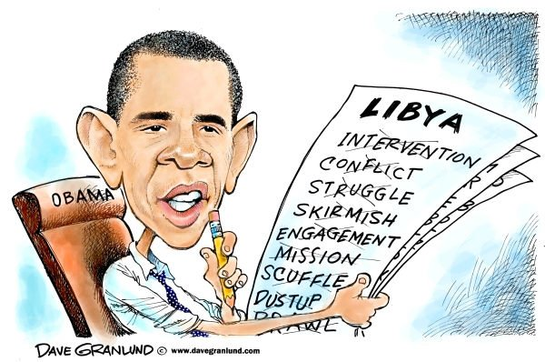 91133 600 Obama defines Libya action cartoons
