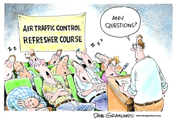 92165 600 Air traffic control refresher course cartoons