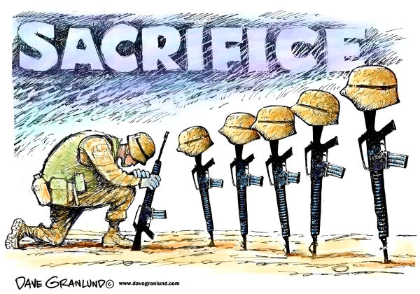 93585 600 Memorial Day and sacrifice cartoons