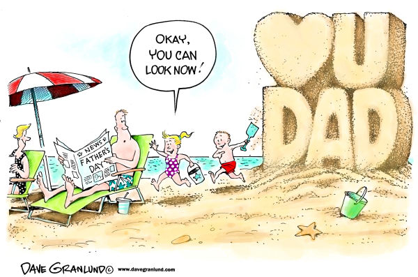 94442 600 Fathers Day at the beach cartoons