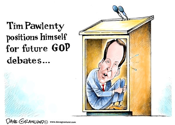 94510 600 Tim Pawlenty and GOP debates cartoons