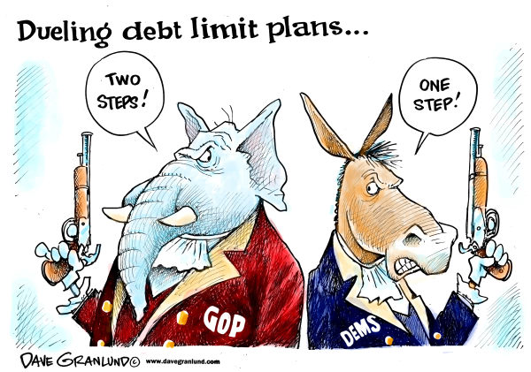 95951 600 Dueling debt limt plans cartoons