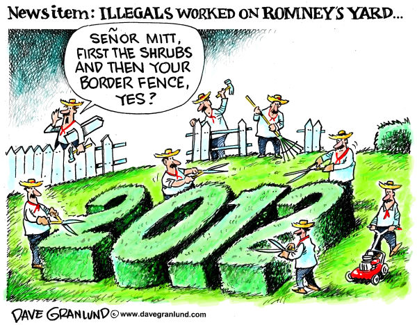 99524 600 Romney yard and illegals cartoons