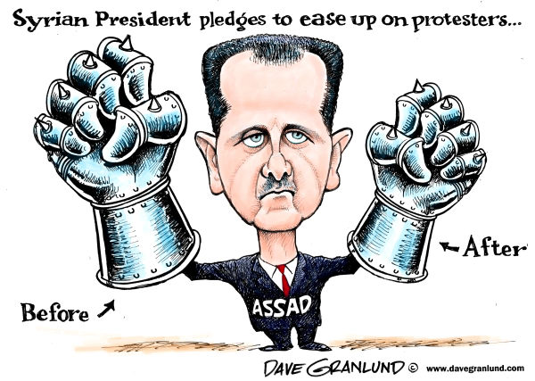 100375 600 Syria and protesters cartoons
