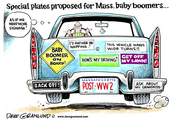 100379 600 Baby boomer license plates cartoons