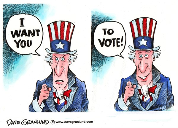 110893 600 Uncle Sam Wants You to Vote cartoons
