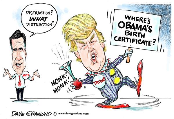 112606 600 Romney and birther Trump cartoons
