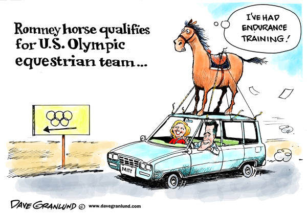 113663 600 Romney horse in Olympics cartoons