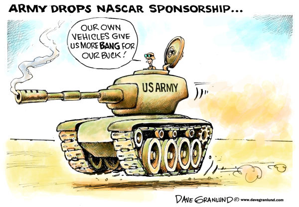 114923 600 US Army and NASCAR cartoons