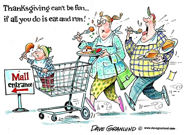 122785 600 Thanksgiving and shopping cartoons