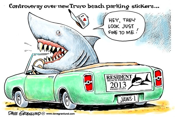128350 600 Truro MA beach stickers cartoons
