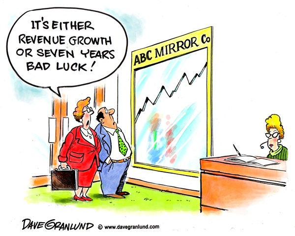 Dave Granlund - Politicalcartoons.com - Revenue growth - English - Revenue growth, economy, business, companies, growth, profits, boost, slump, jobs, sales, industry