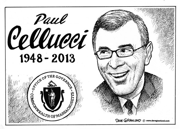 Dave Granlund - Politicalcartoons.com - Paul Cellucci tribute - English - Massachusetts, Governor, former governor, gov celluccim GOP, republican, US ambassador Canada, Paul cellucci, obituary, cellucci obituary, executive, bay state, ALS, died, lou gehrig disease Restrictions