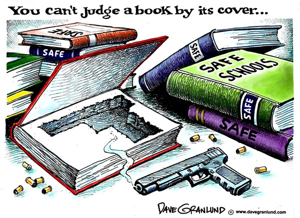139116 600 Schools and guns cartoons