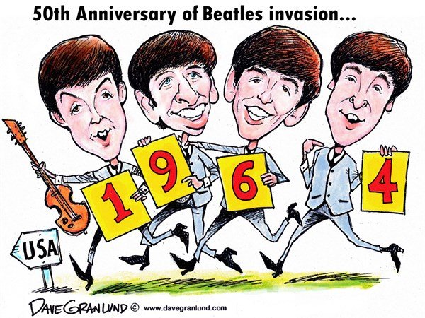 143792 600 Beatles US invasion 1964 cartoons