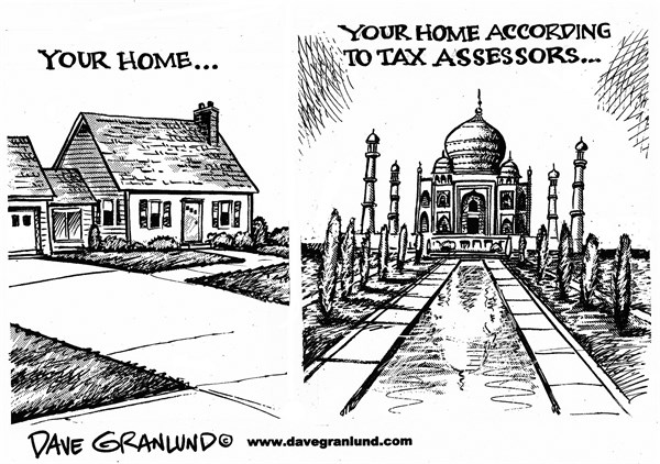 Dave Granlund - Politicalcartoons.com - Tax assessors - English -