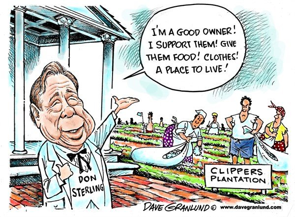 148560 600 Donald Sterling and Clippers cartoons