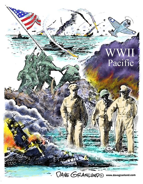 157018 600 WWII Pacific tribute cartoons