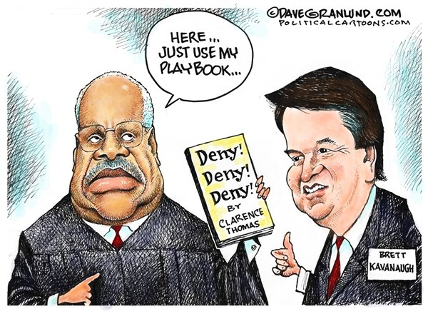 Image result for photos of kavanaugh clarence thomas