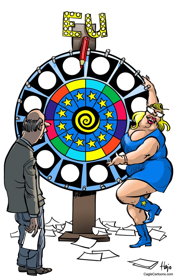 European elections © Hajo de Reijger,The Netherlands,European parliament, Europe, EU elections, European Parliament election, wheel of fortune, chance, oblivious,
