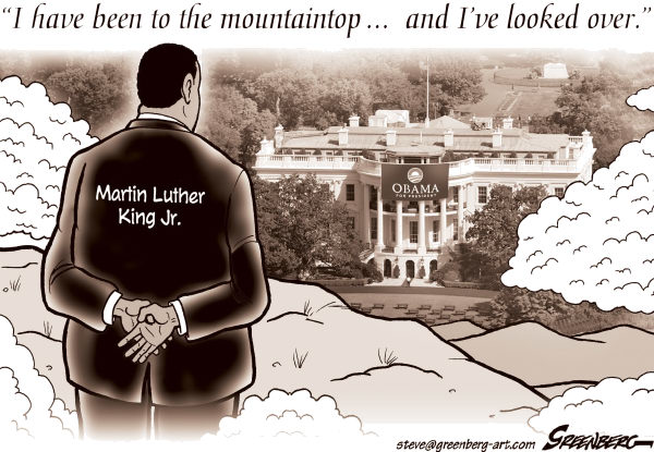 60174 600 Obama and the Mountaintop cartoons