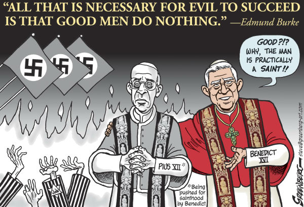 Pope Pius sainthood © Steve Greenberg,Jewish Journal of Greater Los Angeles,Pope Pius XII,pope,Pope Benedict XVI,beatify,beatification, Holocaust,Jews,Hitler,sainthood,saint,cannonization
