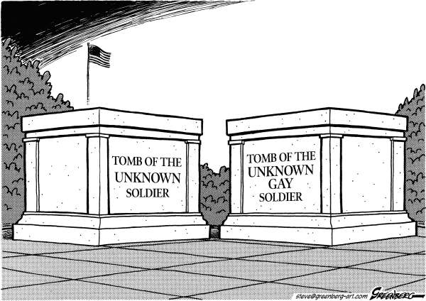 Steve Greenberg - Freelance, Los Angeles - Tombs of the Unknowns bw - English - gay,gays,soldier,tomb,tombs,unknown,homosexuals,military