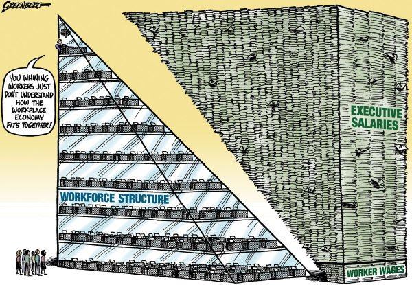 99239 600 Salary pyramid cartoons