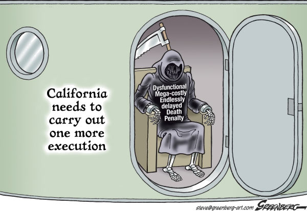 118601 600 CALIF Death Penalty cartoons