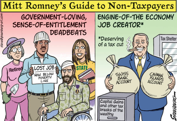 119013 600 Romney Guide to Non Taxpayers cartoons