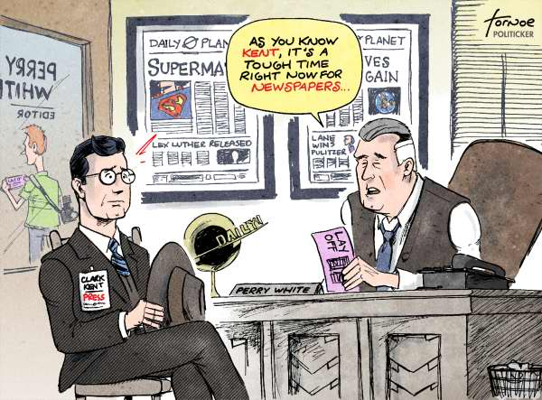 59401 600 Layoffs hit The Daily Planet in Metropolis cartoons