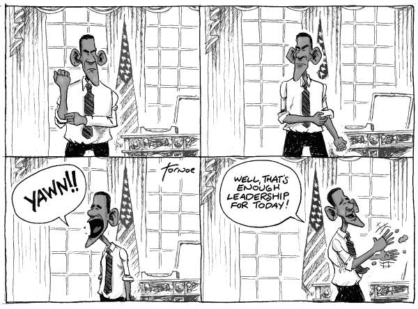 72487 600 Obama No Leadership on Health Care Reform cartoons
