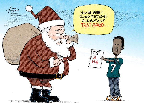 87305 600 Michael Vick Christmas cartoons